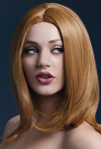 Peruk Sophia, rödbrun