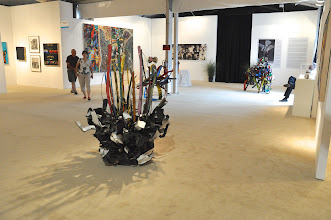 """Photo: Works by John Chamberlain at Gallery Valentine, including """"Camshaftmedley"""" (2007) in the foreground."""