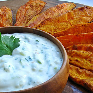 Roasted Sweet Potato Wedges & Dipping Sauce