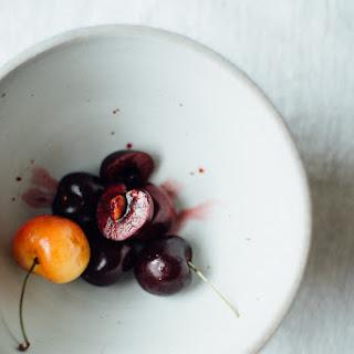 A Midsummer Cherry & Amaranth Panzanella Salad