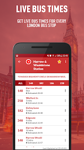 London Live Bus Times - TfL Buses - náhled