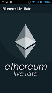 Ethereum Live Rate - náhled