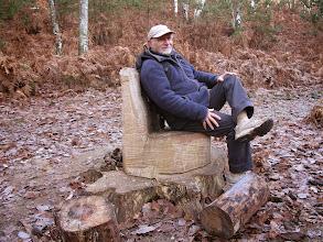 Photo: Le Roi du sketch sur son trône !!
