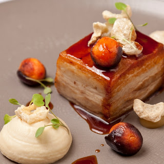 Cured Pork Belly, Baked Apple and Crackling Recipe