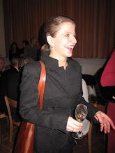 Photo: Wiener Volksoper. Premierenfeier nach VIVA LA MAMMA am 17.1.2015. Die musikalische Leiterin Kristiina Poska. Foto: Peter Skorepa