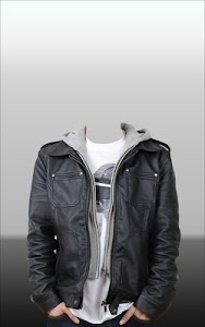 Men Leather Jacket Photo Suit screenshot 10