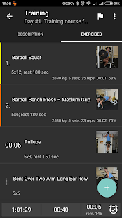 GymUp Pro workout notebook- screenshot thumbnail