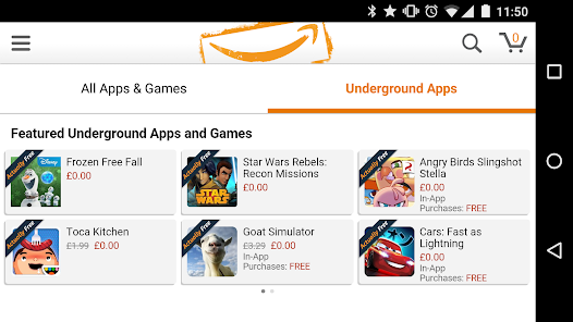 Amazon Underground: Scarica gratis le App a Pagamento