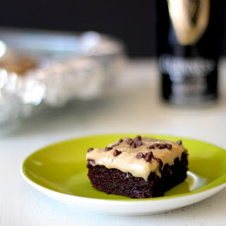 Guinness Brownies w/ Caramel Fudge Frosting