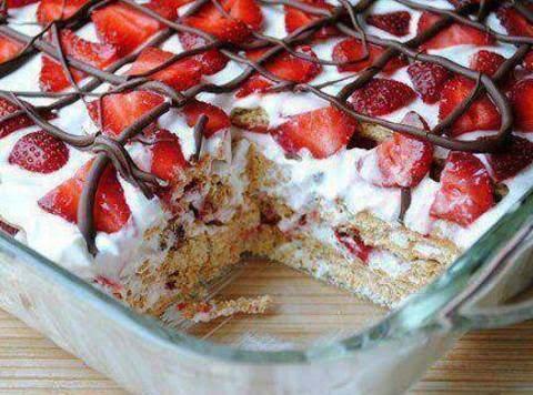 No Bake Strawberry Icebox Cake Recipe
