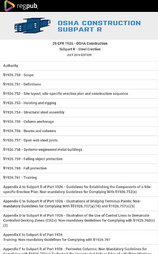 Download 29 CFR 1926 - Subpart R Google Play softwares