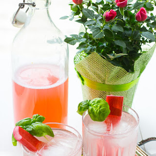 Rhubarb and Rosewater Cocktails