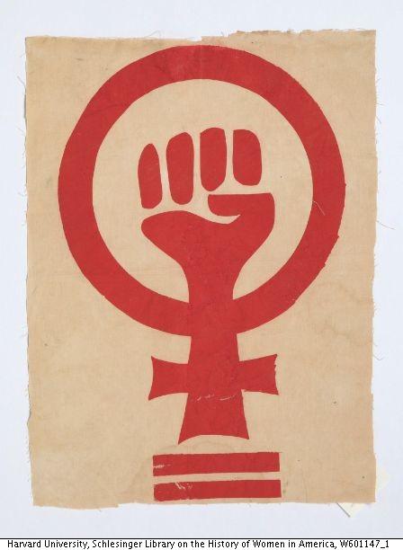 image of feminist symbol with fist