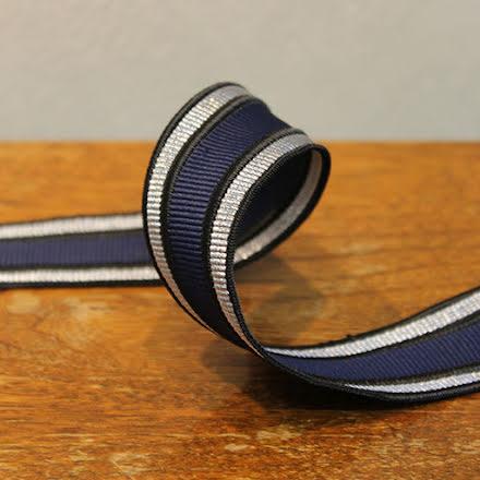 Rynkband - svart/blå/silver