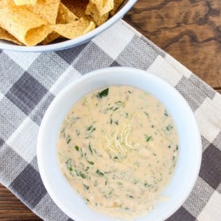Slow Cooker Spinach Queso Dip.