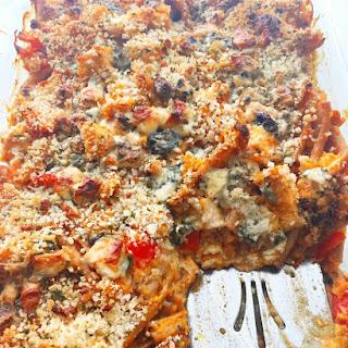 Buffalo Chicken Pasta Rustica.