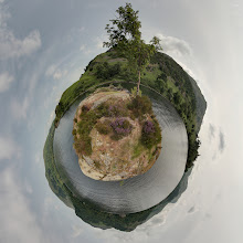 Photo: Lingy Holm mini planet from Ullswater in the English Lake District. The photosphere is on Google Maps at http://goo.gl/HTP9GB.