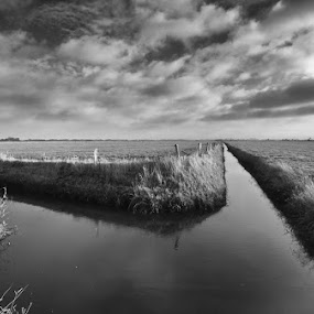 Norderney by Kai Süselbeck - Landscapes Waterscapes ( north germany, norderney, mono-tone, b&w, waterscape, black and white, silence, b and w, landscape, monotone )