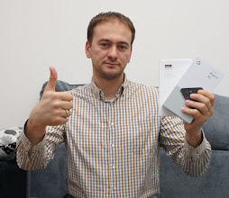 Photo: Sunday giveaway winner Zoran S. showing off his new Google Pixel 2 XL.