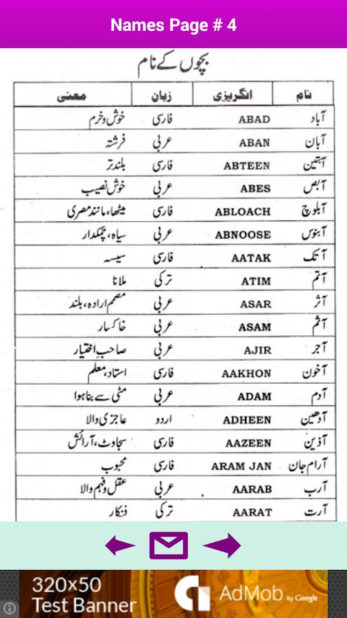 Muslim girl names with meaning in urdu download