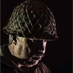 Call of Duty by Hannes Kruger - People Portraits of Men ( warrior, soldier, low key, portrait, war )