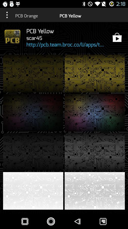PCB Yellow ⁞ TSF Shell 3 Theme - screenshot