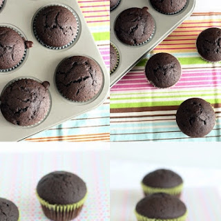 Dark Chocolate Muffins with Dulce de Leche.