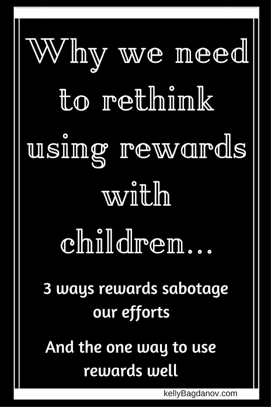 Great article about being cautious about using rewards with children.