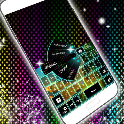 个人化のネオンカラーのキーボード LOGO-記事Game