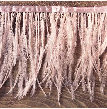 Fjäderband - struts 12cm, nude