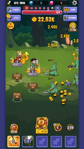 Code Triche Idle Quest Heroes APK MOD (Astuce) screenshots 1