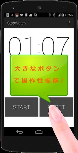 シンプルで無料のストップウォッチアプリ