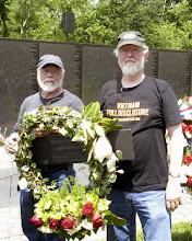 Photo: Doug and John Grant of the Philadelphia VFP chapter carry the wreath.