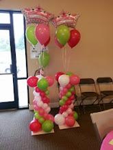 "Photo: columns  with ""a new little princess bouquet"""