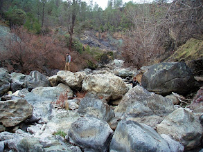 Photo: Looking upstream from the bottom of The Jams waterfall.