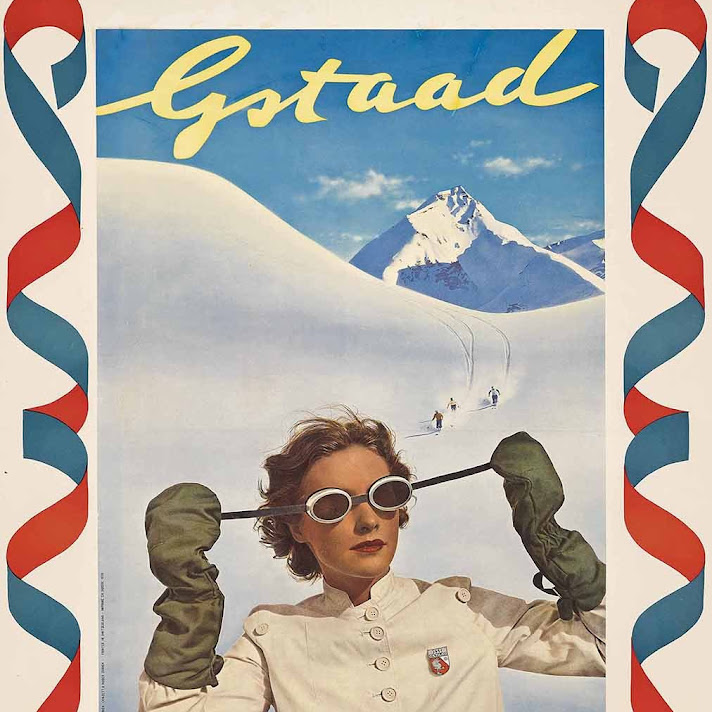 Chalet Gstaad Vintage Poster