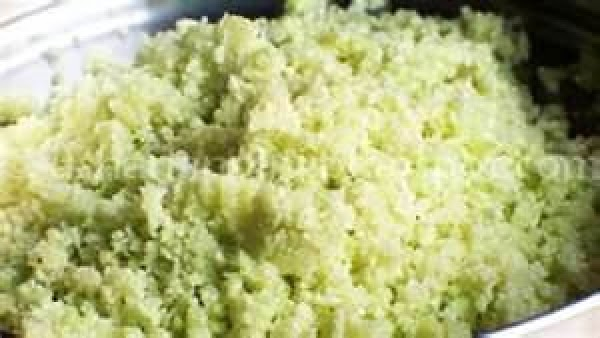 Working in batches, whiz cauliflower florets in a blade food processor until the pieces...