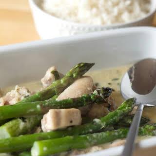 Skinny Creamy Asparagus Chicken.