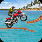 Beach Bike Stunt Rider