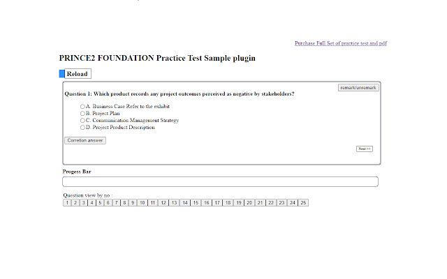 PRINCE2 FOUNDATION exam prep plugin