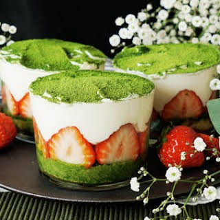Matcha Strawberry Trifle.