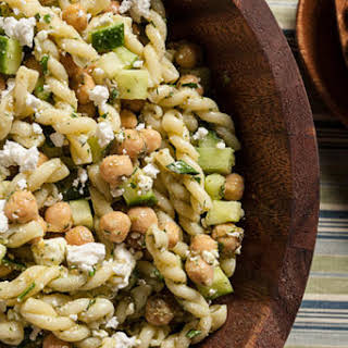 Dill, Chickpea, and Feta Pasta Salad.