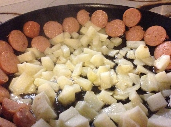 Heat up cast iron skillet on med.hi add two tablespoons of Crisco oil. add...