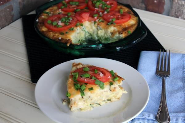 Crustless Quiche With Cauliflower And Herbs Recipe