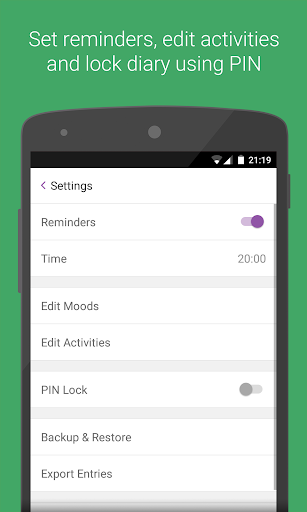 Diary - Mood Tracker app (apk) free download for Android/PC/Windows screenshot