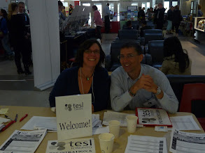 Photo: Day 2 - Karen & Chris at registration