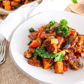 Spicy Tempeh-Bacon Sweet Potato Hash [Vegan]