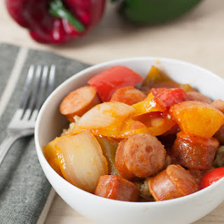 Skillet Sweet and Sour Smoked Brats