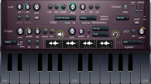 Nexus- Piano for android 1.2 screenshots 2