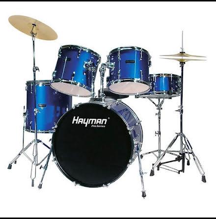 Hayman HM-400 Pro - Komplett nybörjartrumset - Metallic Blue